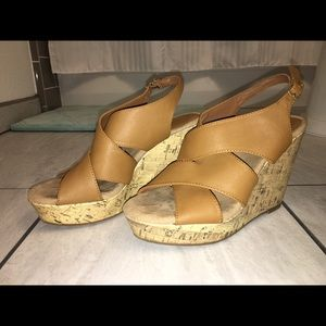 Montego Bay Club Tan Strappy Wedge
